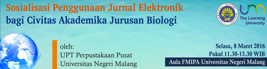 Sosialisasi Penggunaan Jurnal Elektronik oleh UPT Perpustakaan Pusat UM