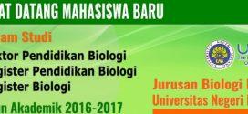 Selamat Datang Mahasiswa Baru Pascasarjana di Jurusan Biologi FMIPA UM