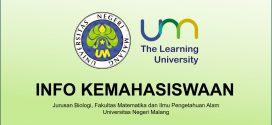 Himbauan Kepada Mahasiswa untuk selalu Update Informasi Akademik di Website Jurusan Biologi UM